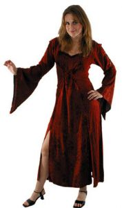 Hippy Dress~Bohemian Ethnic Embroidery Long Sleeve Long Hippy Dress~Fair Trade By Folio Gothic Hippy 3138